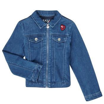 Textil Dívčí Riflové bundy Ikks XR40052 Modrá