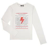 Textil Chlapecké Trička s dlouhými rukávy Ikks XR10023 Bílá