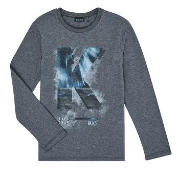Textil Chlapecké Trička s dlouhými rukávy Ikks XR10203 Šedá