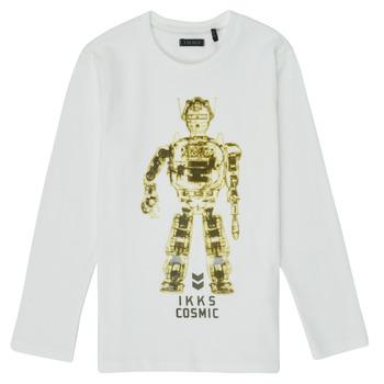 Textil Chlapecké Trička s dlouhými rukávy Ikks XR10233 Bílá