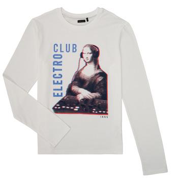 Textil Chlapecké Trička s dlouhými rukávy Ikks XR10333 Bílá