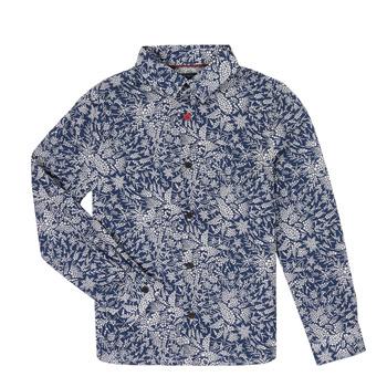 Textil Chlapecké Košile s dlouhymi rukávy Ikks XR12023 Modrá