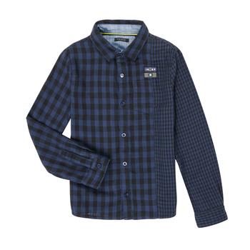 Textil Chlapecké Košile s dlouhymi rukávy Ikks XR12123 Modrá