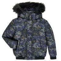 Textil Chlapecké Prošívané bundy Ikks XR41133 Modrá