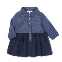 Textil Dívčí Krátké šaty Ikks XR30150 Modrá