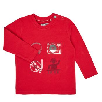 Textil Chlapecké Trička s dlouhými rukávy Ikks XR10011 Červená