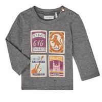 Textil Chlapecké Trička s dlouhými rukávy Ikks XR10081 Šedá