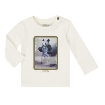 Textil Chlapecké Trička s dlouhými rukávy Ikks XR10101 Bílá
