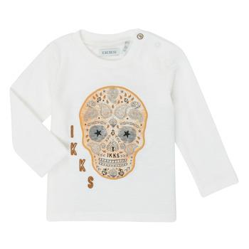 Textil Chlapecké Trička s dlouhými rukávy Ikks XR10141 Bílá