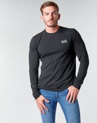 Textil Muži Trička s dlouhými rukávy Emporio Armani EA7 TRAIN CORE ID M TEE LS ST Černá / Bílá
