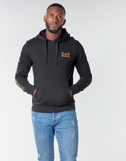 Textil Muži Mikiny Emporio Armani EA7 TRAIN LOGO SERIES M HOODIE RN COFT Černá