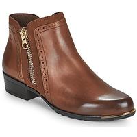 Boty Ženy Kotníkové boty Caprice 25403-313 Zlatohnědá