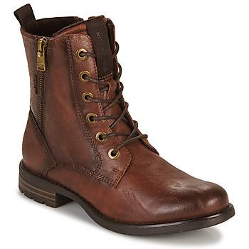Boty Ženy Kotníkové boty Tom Tailor 93303-COGNAC Zlatohnědá
