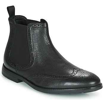 Boty Muži Kotníkové boty Clarks RONNIE TOP Černá