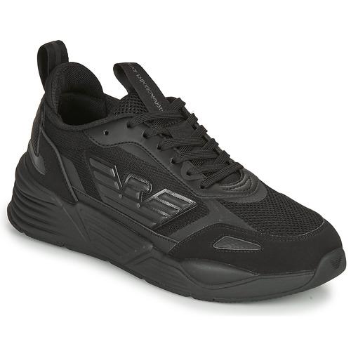 Boty Muži Nízké tenisky Emporio Armani EA7 XK165 Černá