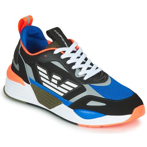 Boty Muži Nízké tenisky Emporio Armani EA7 XK165 Černá / Modrá / Oranžová