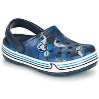 Boty Chlapecké Pantofle Crocs CROCBAND SHARK CLOG PS Tmavě modrá