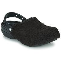 Boty Pantofle Crocs CLASSIC FUZZ MANIA CLOG Černá