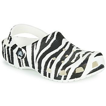 Boty Ženy Pantofle Crocs CLASSIC ANIMAL PRINT CLOG Černá