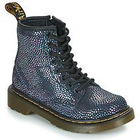 Boty Dívčí Kotníkové boty Dr Martens 1460 J Černá / Metalíza
