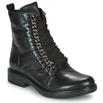 Boty Ženy Kotníkové boty Mjus CAFE CHAIN Černá
