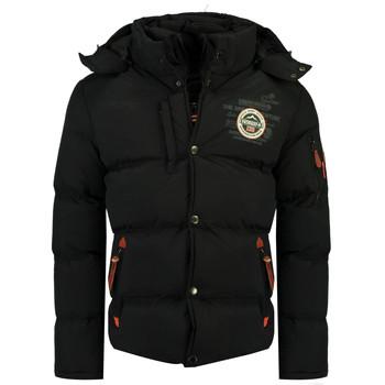 Textil Chlapecké Prošívané bundy Geographical Norway VERVEINE BOY Černá