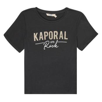 Textil Dívčí Trička s krátkým rukávem Kaporal MAPIK Černá