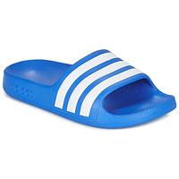 Boty Chlapecké pantofle adidas Performance ADILETTE AQUA K Modrá / Bílá
