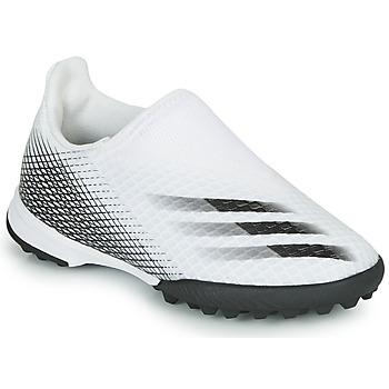 Boty Děti Fotbal adidas Performance X GHOSTED.3 LL TF J Bílá
