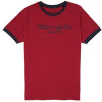 Textil Chlapecké Trička s krátkým rukávem Teddy Smith TICLASS 3 Červená