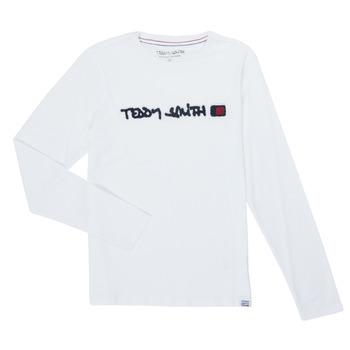 Textil Chlapecké Trička s dlouhými rukávy Teddy Smith CLAP Bílá