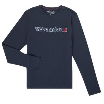 Textil Chlapecké Trička s dlouhými rukávy Teddy Smith CLAP Tmavě modrá