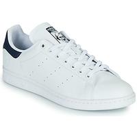 Boty Nízké tenisky adidas Originals STAN SMITH VEGAN Bílá / Modrá