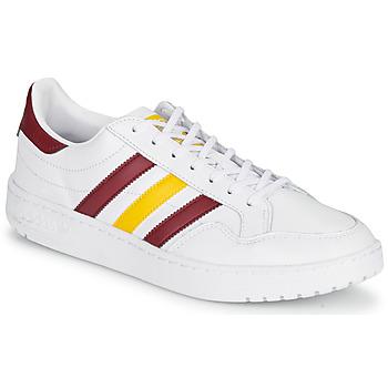 Boty Nízké tenisky adidas Originals TEAM COURT Bílá / Bordó / Žlutá