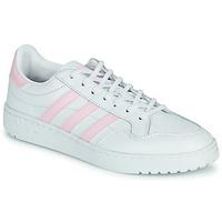 Boty Ženy Nízké tenisky adidas Originals TEAM COURT W Bílá / Růžová