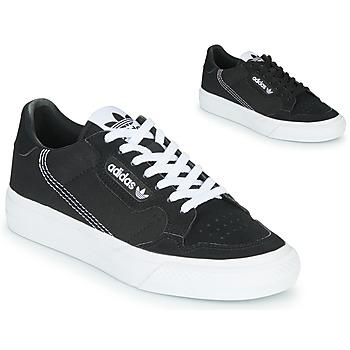 Boty Děti Nízké tenisky adidas Originals CONTINENTAL VULC J Černá