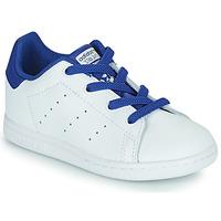 Boty Chlapecké Nízké tenisky adidas Originals STAN SMITH EL I Bílá / Modrá
