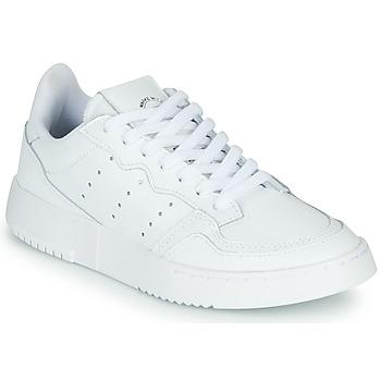 Boty Děti Nízké tenisky adidas Originals SUPERCOURT J Bílá
