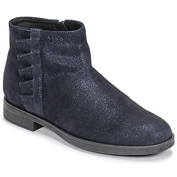 Boty Dívčí Kotníkové boty Geox AGGATA Tmavě modrá