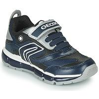 Boty Chlapecké Nízké tenisky Geox ANDROID Tmavě modrá / Stříbřitá