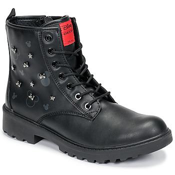 Boty Dívčí Kotníkové boty Geox CASEY Černá