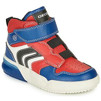 Boty Chlapecké Nízké tenisky Geox GRAYJAY Červená / Modrá