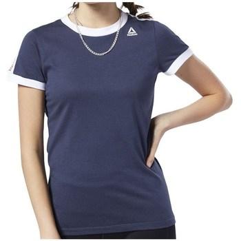 Textil Ženy Trička s krátkým rukávem Reebok Sport Linear Logo Tee Tmavomodré
