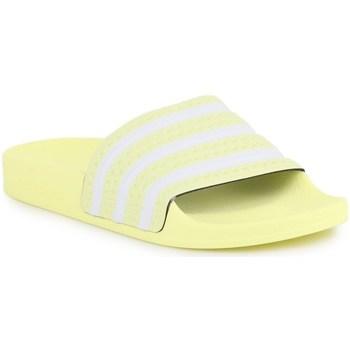 Boty Ženy pantofle adidas Originals Adilette W Bílé, Žluté