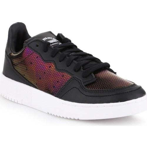 Boty Ženy Nízké tenisky adidas Originals Supercourt W Černé, Vínově červené