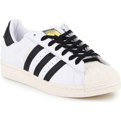 Boty Muži Nízké tenisky adidas Originals Superstar Laceless Bílé, Černé