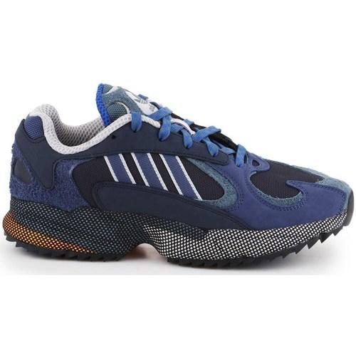 Boty Muži Nízké tenisky adidas Originals YUNG1 Modré, Tmavomodré