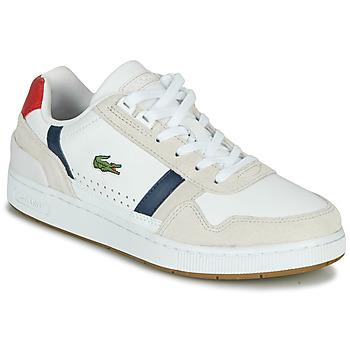 Boty Ženy Nízké tenisky Lacoste T-CLIP 0120 2 SFA Bílá / Tmavě modrá / Červená