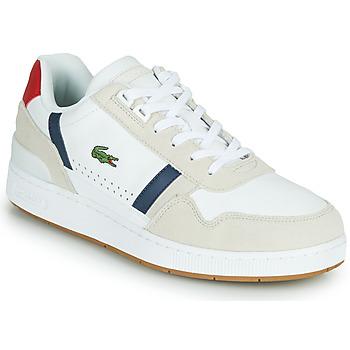 Boty Muži Nízké tenisky Lacoste T-CLIP 0120 2 SMA Bílá / Tmavě modrá / Červená