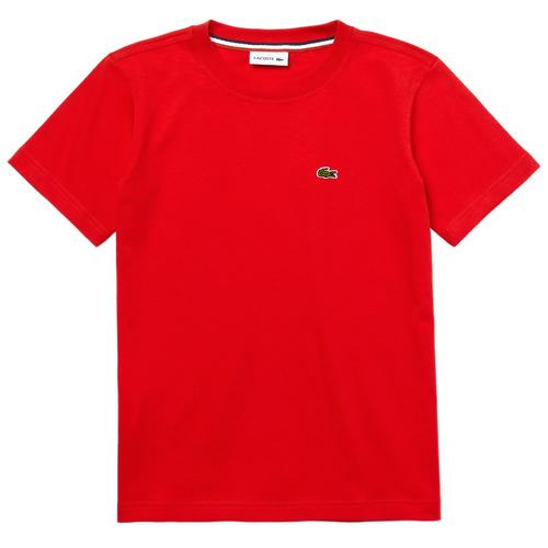 Textil Chlapecké Trička s krátkým rukávem Lacoste TJ1442-F8M-J Červená